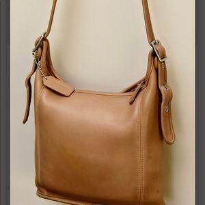 Coach Bags - vintage coach satchel camel beige EUC